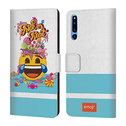 Head Case Designs Offizielle Emoji® Trick Oder Vergnügen Halloween Brieftasche Handyhülle aus Leder für Huawei Honor Magic 2 (Magic Halloween Für Tricks)