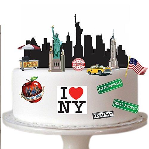 Vollständige New York (Top That, Piratenszene, aus essbarem Oblatenpapier hergestellt, ideal geeignet für die Dekoration von Geburtstagskuchen - einfach zu verwenden)