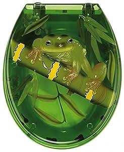 wc sitz frog mit eingelegtem 3d froschmotiv von sanwood. Black Bedroom Furniture Sets. Home Design Ideas