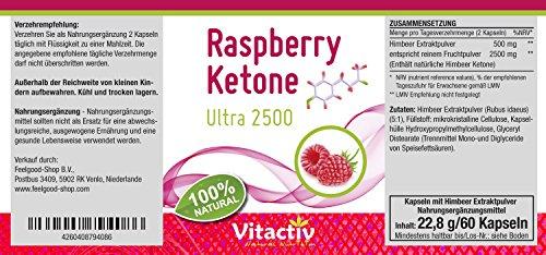 Raspberry Ketone, Ultra hochdosiert 2500mg pro Tagesdosis, der Fatburner Geheimtipp für Diät und Abnehmen*, regt die Fettverbrennung an*, 100% natürlich aus Himbeeren, 60