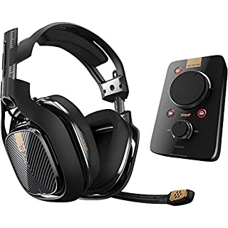 ASTRO Gaming A40 TR Wired Headset + MixAmp Pro TR With Dolby 7.1 Surround Sound - Compatible With PlayStation 4, PC, Mac - Black