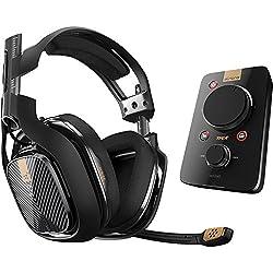 Astro A40 TR + MixAmp Pro TR, Auriculares de diadema cerrados (3.5 mm, micro USB, 20 - 24000 Hz, micrófono), Negro