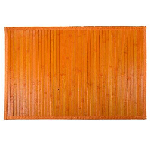 Creaciones Meng - Alfombra Bambu Color Naranja
