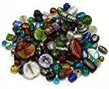 Glasperlen Mix Posten Glas Perlen Nur Silberfolie Lampwork Fancy Rund Oval Konvolut Bunt Perlenset Bastelset Für Schmuck zur Schmuckherstellung von Halsketten Armband DIY Basteln Schmuck Design (500)