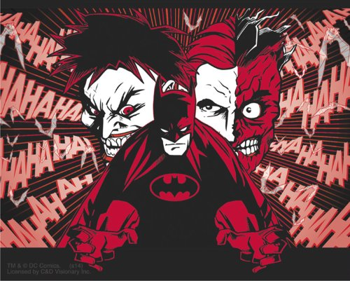 DC Comics Batman Joker And Two Face STICKER, Officially Licensed Artwork, 4