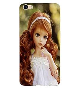 ColourCraft Lovely Doll Design Back Case Cover for VIVO V5