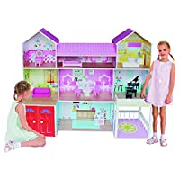 Kiddi Style Wooden Huge Mansion Manor Dolls House with Furniture - Fits Large Dolls