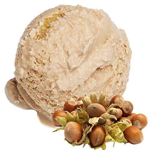 Haselnuss Geschmack 1 Kg Gino Gelati Eispulver für Milcheis Softeispulver Speiseeispulver