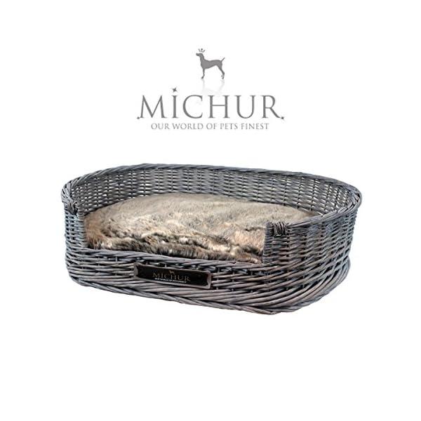 Michur Grace Cesta Per Cani E Gatti In Vimini Naturale Cuccia Per