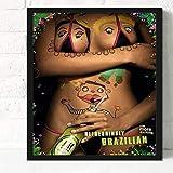 zxddzl Affiche de café Moderne Noyau de Peinture sans Cadre de Peinture décorative...