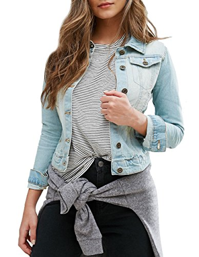 SS7 NEW Women's Denim Jacket, Stonewash Blue, Size 8 - 16