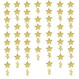 Whale Sterne von Papier Girlande Banner Flaggen zum Aufhängen Dekoration für Hochzeit Party Geburtstag, Gold, 3 Stück, 15 meter