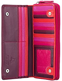 c60fbd4ffa Visconti portafoglio di pelle da donna Rainbow multicolore Large Purse  (RB55):
