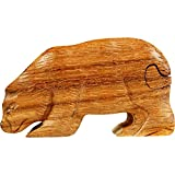 BestSaller 1041 Trickkiste / Schatzkiste 'Bär', Holz, 12x6x6cm, Natur (1 Stück)