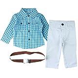 CHIC-CHIC Salopette Pantalons Chemise Bébé Garçon Vintage Gentleman Déguisement (12-18Month)