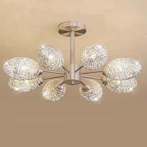 8 Licht Kronleuchter Oval (TMY Post-moderne Kunst Deckenleuchten, Oval Aluminium Kronleuchter, Schlafzimmer Study Zimmer Wohnzimmer Dekorative Licht Deckenleuchte Deckenlampe (Size : 72 * 32cm-e27*8))