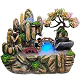 ZZKJXHJ Fontana Coperta/Ornamenti d'Acqua Piccolo rocaille/Feng Shui Wheel Home Decorations/Resin Crafts (Gift)