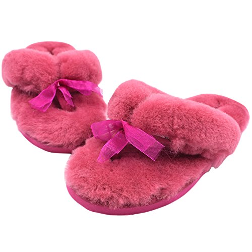 Oasap Damen Fashion Winter Warm Flache Slippers Chocolate