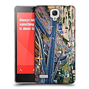 Snoogg Zig Zag Roads Designer Protective Phone Back Case Cover For Xiaomi Redmi Note