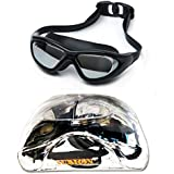 Aurion Swim Goggles, Aegend Mirrored Swimming Goggles No Leaking Anti Fog UV Protection Triathlon Swim Goggles With Free Protection Case For Adult Men Women Youth Kids Child, Black