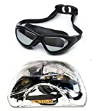 #9: Aurion Swim Goggles, Aegend Mirrored Swimming Goggles No Leaking Anti Fog UV Protection Triathlon Swim Goggles with Free Protection Case for Adult Men Women Youth Kids Child, Black