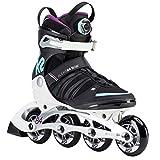 K2 Damen Inline Skates ALEXIS 84 BOA - Schwarz-Weiß-Türkis - EU: 39 (US: 8 - UK: 5.5) - 30D0190.1.1.080