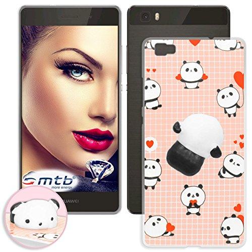 mtb more energy® Schutz-Hülle Squishy 3D für Huawei P8 Lite (ALE-L21 / 5.0'') | Panda | TPU Case Cover Tasche