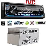 FIAT Punto 188 - Autoradio Radio JVC KD-X151 | MP3 | USB | Android 4x50Watt - Einbauzubehör - Einbauset