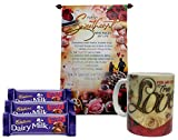 Saugat Traders Love Gift - Love Scroll Card, Quote Coffee Mug & Dairy Milk Chocolate