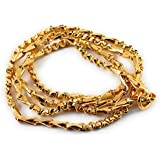 SUKRA GOLD One Gram Micro Gold Plated Traditional Designer Chain for Women and Girls