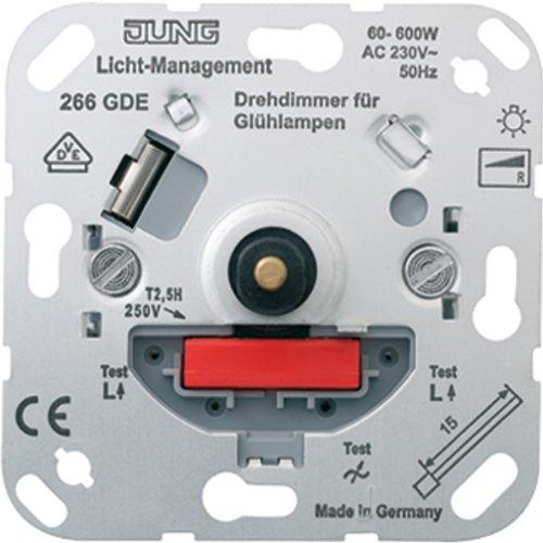 Jung 266GDE Drehdimmer mit Druck-Wechselschalter