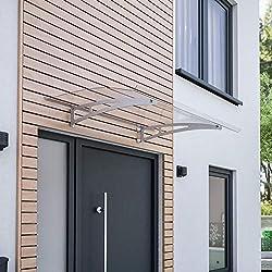 Schulte Vordach /Überdachung Haust/ürvordach  Acrylglas klar Stahl anthrazit Pultbogenvordach 150x95cm