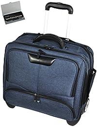 b5e483afca649 XXL Notebooktasche Laptop Tasche Pilotenkoffer gepolstert mit Trolley    Schultergurt 17