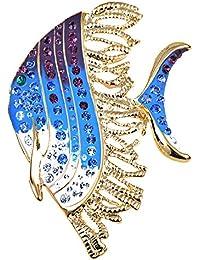 Alilang Swarovski Cristal Elementos Azul púrpura Color trópico Ángel Moda Broche