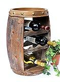 DanDiBo Weinregal Weinfass Holz Flaschenständer 1555 Bar 50 cm für 8 Fl. Regal Fass Holzfass