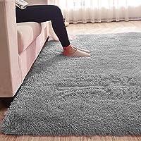 MultiWare Fluffy Area Rugs Anti-Skid Yoga Carpet For Living Room Rugs Bedroom Gray(120cm x 80cm)