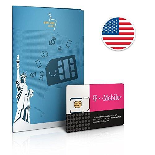 Prepaid Sim-Karte USA - 10GB 4G LTE - Unbegrenzte Anrufe und Sms - 30 Tage - Prepaid-verizon-handys