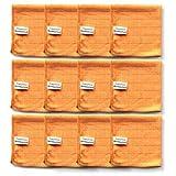 Microfaser Tücher clean2magic Küche/Bad (12-teilig) | 12 Mikrofasertücher (orange) für alle Küchen- und Badflächen | 30 x 30 cm