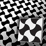1m² Zementfliesen Restposten orientalische Fliesen schwarz weiß