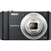 Sony Cybershot DSC-W810/B 20.1MP Digital Camera Memory Card 16GB (Black) + Bag
