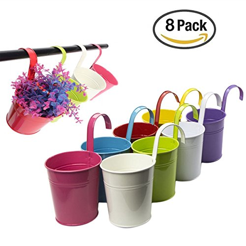 daorier-8-pcs-metal-iron-hanging-planter-flower-pot-vase-vintage-style-balcony-garden-planter-home-d