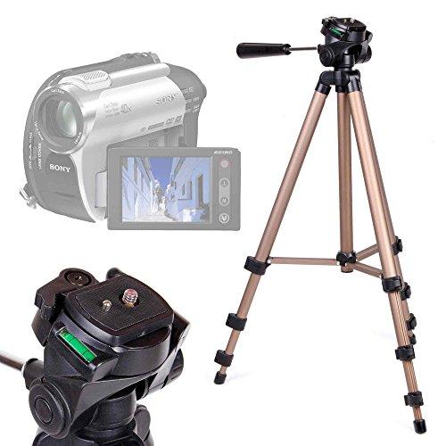 Treppiede pieghevole e rotante per videocamere aiptek ahd h23   andoer hdv-312p   canon legria hf g30   inkint 16 x   samsung vp-dx100 - 43-125 cm - alta qualità - duragadget
