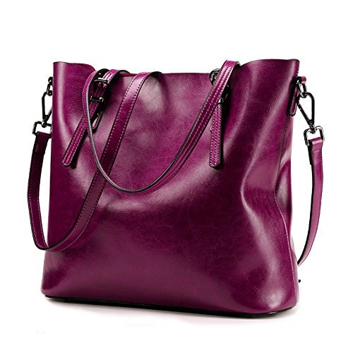 Anne, Borsa tote donna marrone Wine Red Fuchsia