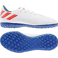 adidas Nemeziz Messi 19.4, Boy's Turf Boots, White (Ftwr White/Solar Red/Football Blue), 13.5 UK (32 EU)
