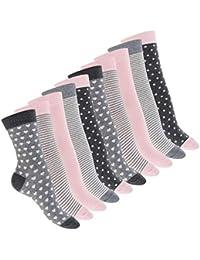 Celodoro Damen Motiv Socken (10 Paar), süße Söckchen aus Baumwolle