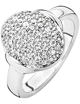 Ti Sento Milano  - Ring 925 Sterling-Silber  rhodiniert Silber Ovalschliff   weiß Oxyde de Zirconium