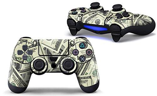 Sony PlayStation 4 Controller Aufkleber - Skin - Sticker | PlayStation 4 Style Schutzfolie für eine coole Optik, besseren Schutz und mehr Spass beim spielen | Auch für PS4 Pro Pad & PS4 Slim Pad geeignet | HappyGaming (DOLLAR MONEY)