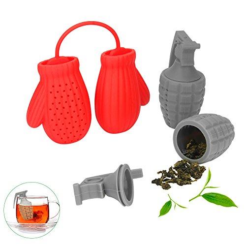 Tè infusore, non è tossico. costruito con un materiale salutare, adatto al cibo e con un design innovative. facile da usare e in due differenti colori, rosso e grigio