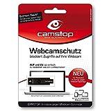 Camstop Webcam-Schutz schwarz - Mit Warnsymbol bei aufgeschobenem Zustand - Die Abdeckung gegen Kamera-Spionage