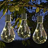 Indexp Solar PP Light Bulb, 1 PC Waterproof Rotatable Outdoor Garden Camping Hanging LED Lamp. (Clear)
